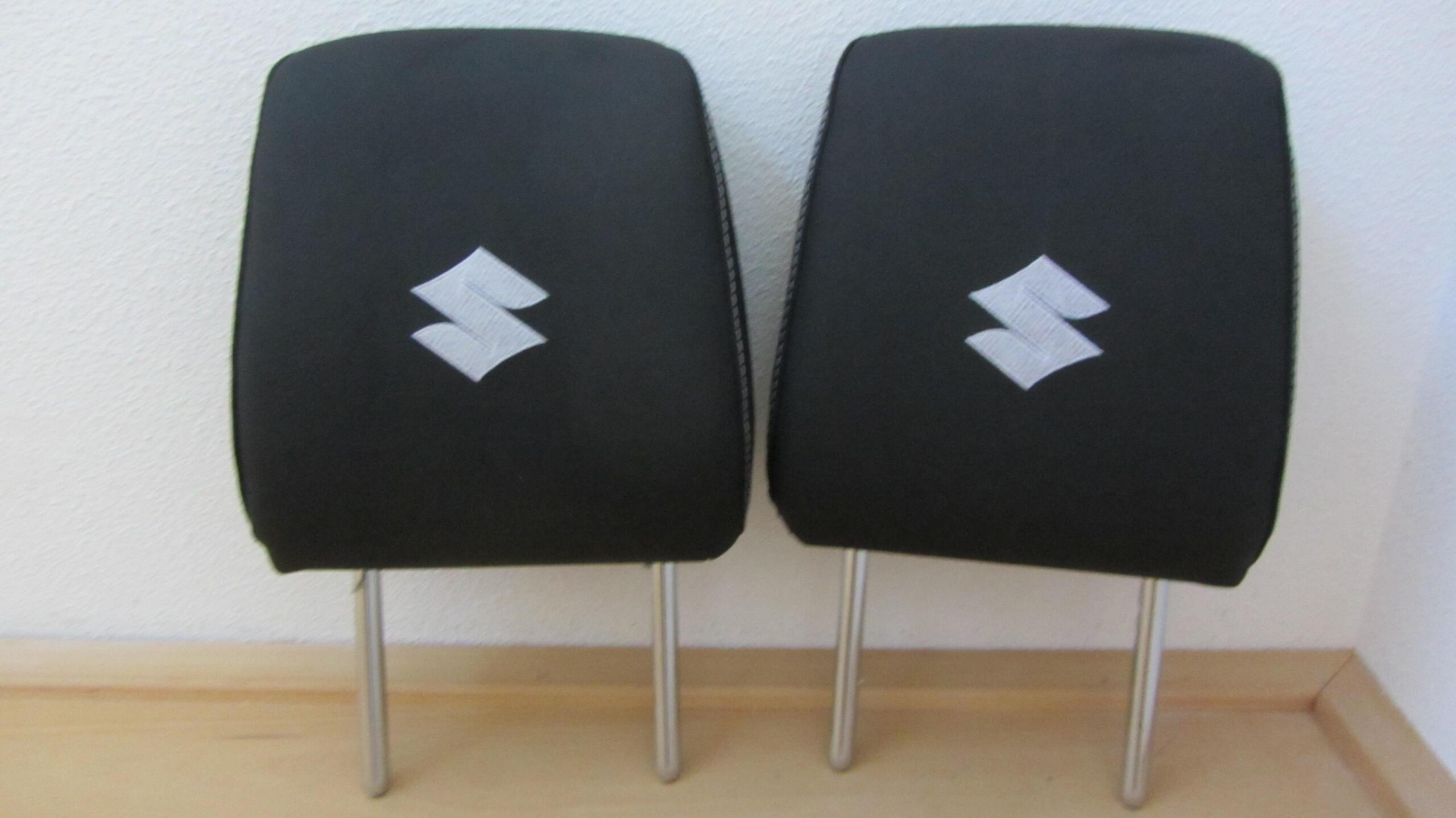 Hoofdsteunen bekleed met logo suzuki